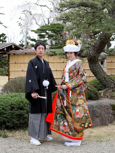 新郎新婦 前撮り撮影 藤田記念庭園 弘前市 結婚式