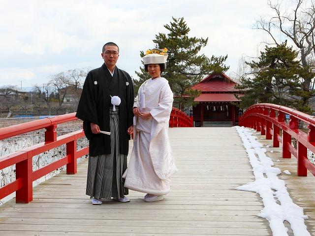 猿賀神社 神前挙式 弘前市 スナップ ハッピー フォト 写真