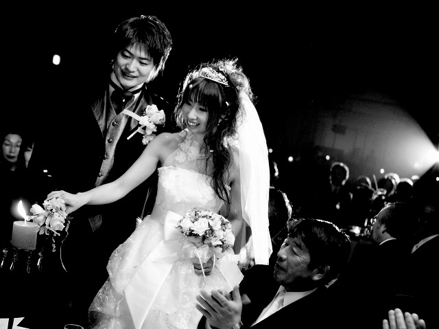 キャンドルサービス 弘前パークホテル 結婚式 スナップ 弘前市