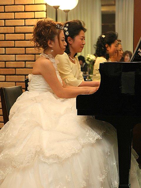 披露宴 ピアノ演奏 弘前プラザホテル スナップ