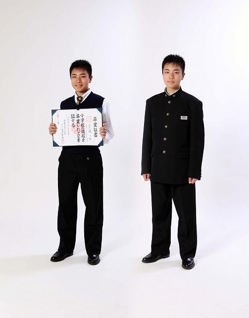 卒業記念 入学記念 記念撮影 子供写真 弘前市
