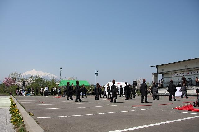 板柳町さくら祭り 2009 よさこい 津軽だんず