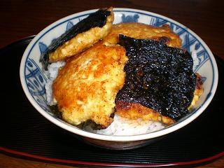豆腐の蒲焼丼