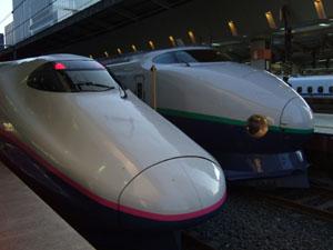 E2系と200系の並び