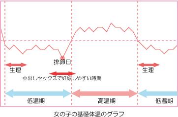 女の子の基礎体温のグラフ