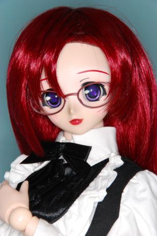 装着、赤メガネ!!