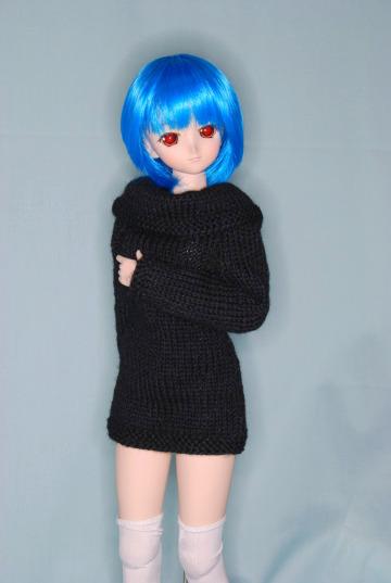 黒セーター、しょの1