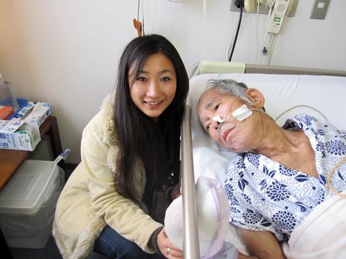 麻実子さんと父