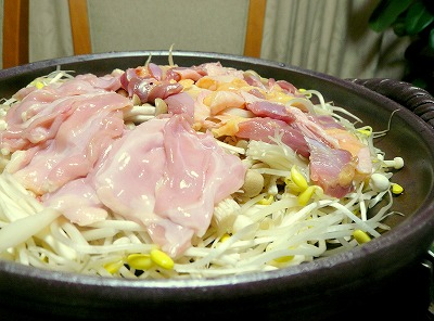 081008鶏の酒蒸し鍋