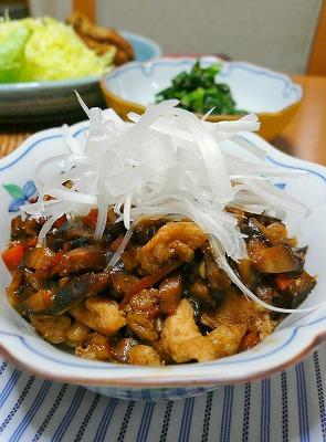 081120鶏肉の味噌炒め