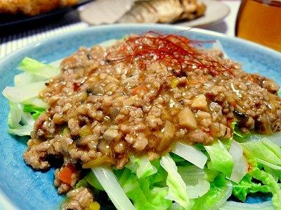 081229白菜麺のひき肉あんかけ