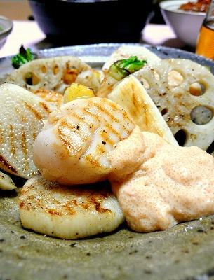 090128ほたて貝と白い野菜のグリル