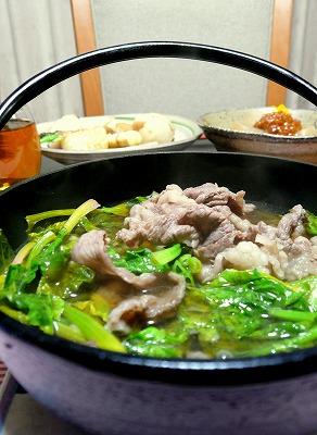 090128お肉とほうれん草のポン酢煮
