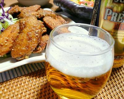 090304ビールと手羽先