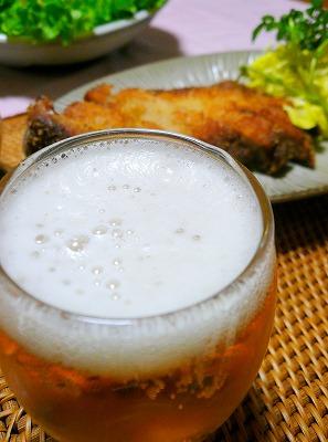 090409ビールととんかつ
