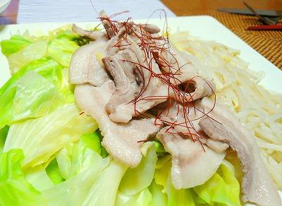090524ゆで野菜とゆで豚サラダ