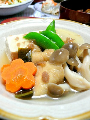 090526お野菜の梅あんかけ
