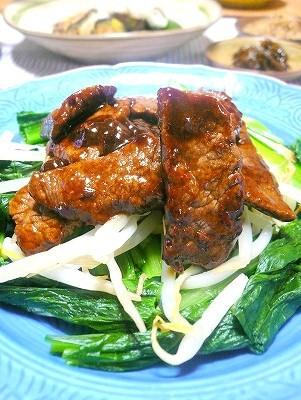 090615牛肉炒め