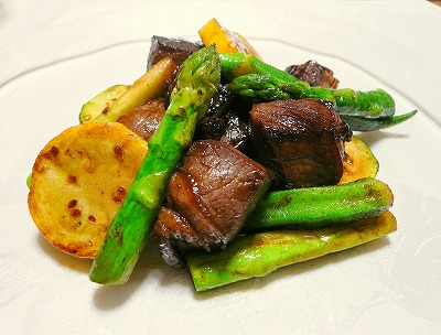 090630夏野菜と牛肉のBBQ味