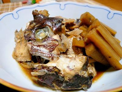 090726鯛のアラ炊き