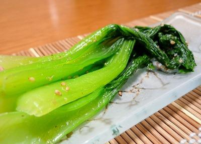 090727チンゲン菜のナムル