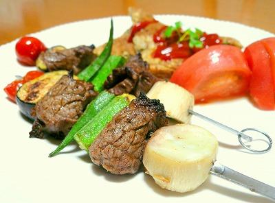 090812牛肉と野菜のプロシェット