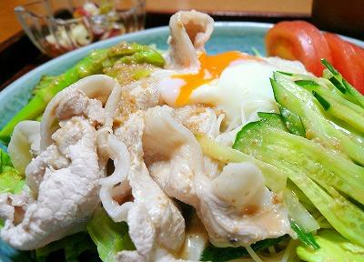 090811冷しゃぶのサラダ素麺