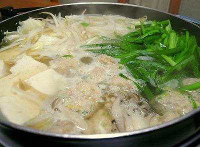 090818鶏だんご鍋