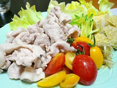 090819茹で豚とお野菜