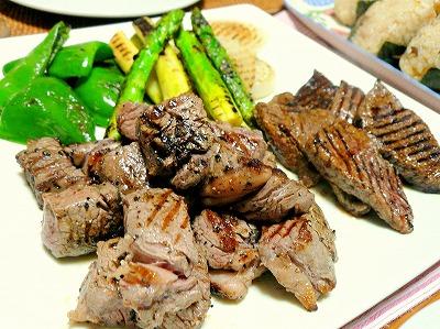 090927お肉とお野菜プレート