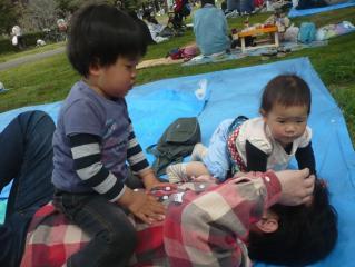 野川公園にて・パパちゃん♪