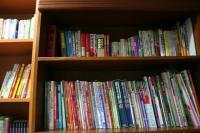 本がたくさんあったよ。