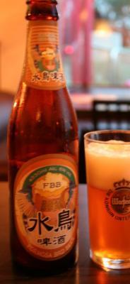 これがうわさの水鳥ビール。