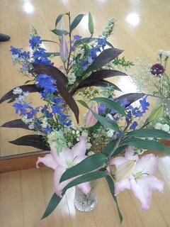 発表会の花
