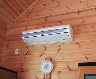 エアコン自動掃除中