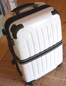 使用後のスーツケース