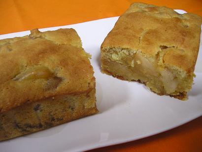 キャラメル林檎たっぷりケーキ
