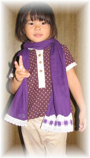 ストール紫(はなモデルピース)