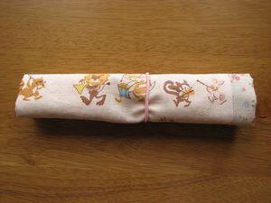 ランチョンマット&はし袋畳み方 4