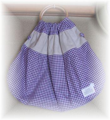 丸持ち手かぼちゃバッグ 紫1