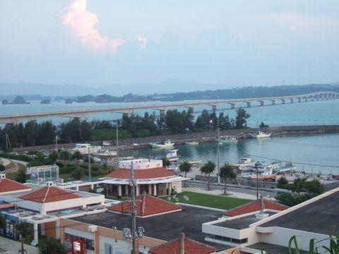 奥に見える隣の屋我地島を経由して本島と結ばれている。