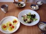 鶏・青梗菜・筍の炒めもの