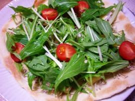 じゃこと水菜のクリスピーピザ