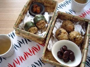 竹の箱弁当