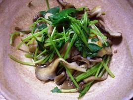 舞茸・鱈と三つ葉のカレー風味蒸し