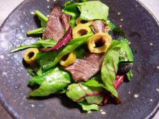 ラムグリルのグリーンサラダ