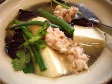 豆腐と肉団子のスープ