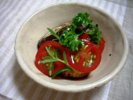 トマトと茄子のハーブ漬け