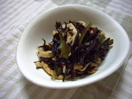 芽ひじき・切干大根・茎わかめの酢のもの