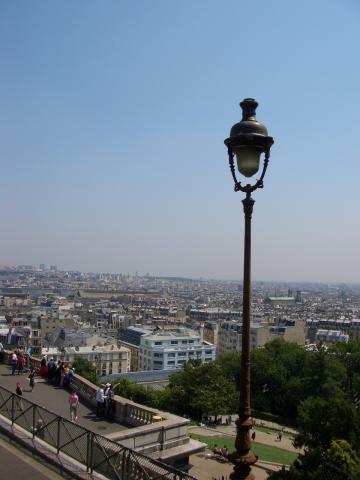 モンマルトルからのパリの景色